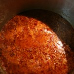 making the sauce