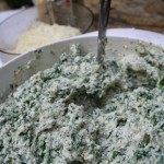 ricotta, spinach and pesto mix