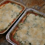 two yummy lasagnas, ready to eat!