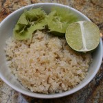 brown rice with limes