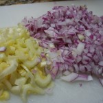 onion and celery chopped