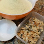 semolina flour and the seeds